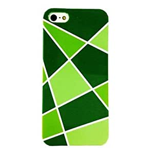 TOPAA Punk Irregular Shape Triangle Pattern Plastic Hard Case for iPhone 5/5S