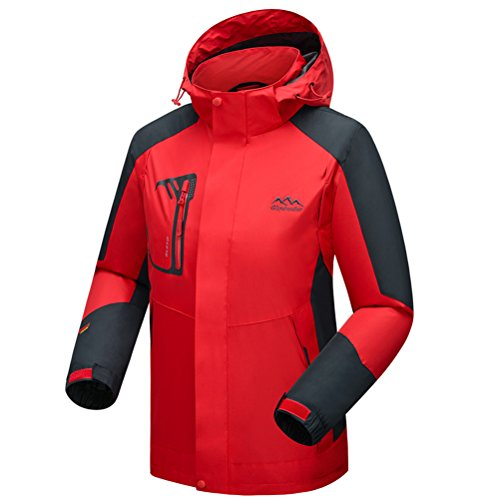 [Timeiya Men's Waterproof hooded Jackets for mountaineering Outdoor Autumn] (Male Figure Skater Costume)