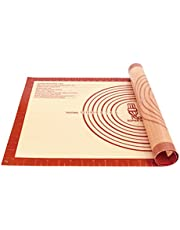 Non-Slip Silicone Pastry Mat Extra Large with Measurements for Silicone Baking Mat, Counter Mat, Dough Rolling Mat,Oven Liner,Fondant/Pie Crust Mat