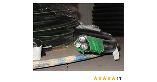 200/' Aluminum Triplex Cable URD 1//0-1//0-2 Brenau 600 Volt Wire 200/'