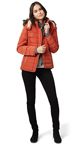 Tom Tailor Casual Padded Jacket, Chaqueta para Mujer fox orange