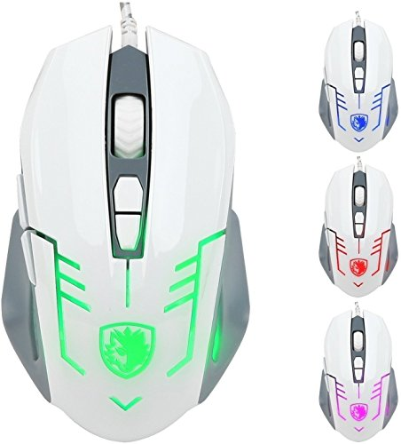 SADES Cataclysm Gaming Mouse Lights Braided