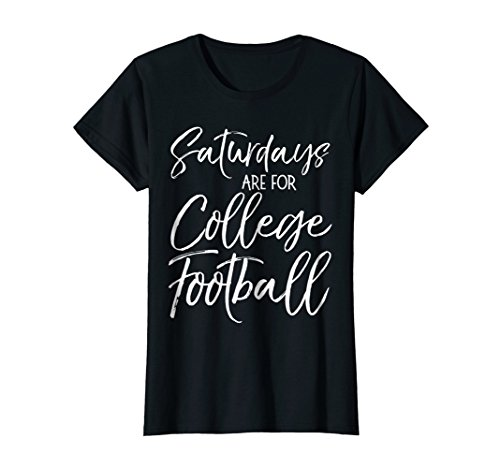 Womens Saturdays are for College Football Shirt Vintage Tailgate XL Black