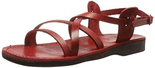 Red Jerusalem Sandals Gladiator Tzippora Women's wxRRIFOq0