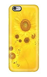 For Iphone Case, High Quality Bright Yellow Sunflowers For Iphone 6 Plus Cover Cases