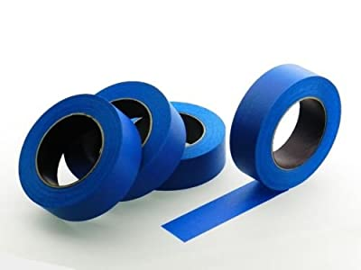 """4pk 1.5"""" in x 60 yd Blue Painters Tape PROFESSIONAL Grade Masking Edge Trim Easy Removal (36MM 1.41 inch)"""