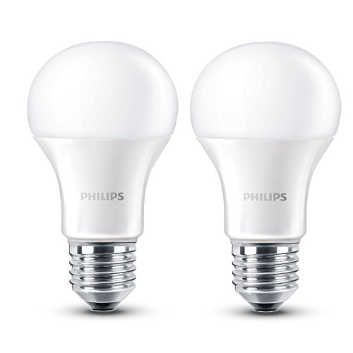 Philips 8718696491126 - Pack de 2 bombillas LED, luz blanca cálida, 6 W, equivalente a 40 W, casquillo E27, no regulable: Amazon.es: Iluminación