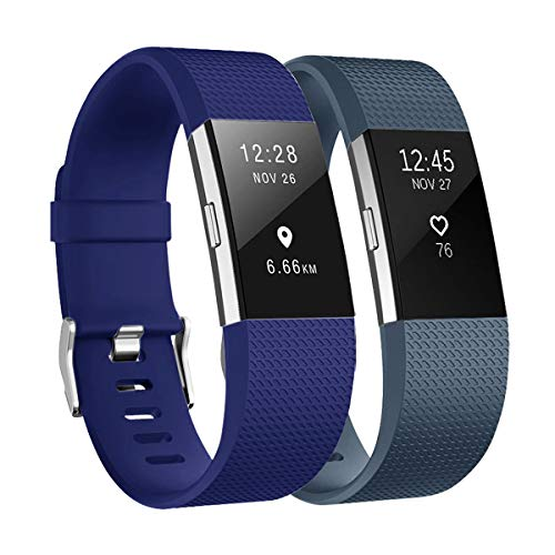 Fundro Replacement Bands Compatible with Fitbit Charge 2, Classic & Special Edition Adjustable Sport Wristbands ()