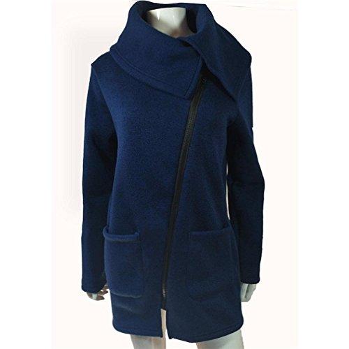 Inverno Giacche Giacca Donna Felpa Lunga Aspesi Outerwear Blu Alto TWvfSU66