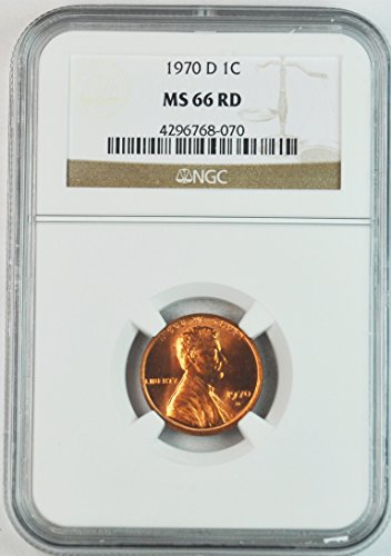 1970 D Lincoln Memorial Cent Brilliant Uncirculated Denver Penny MS66 NGC RD