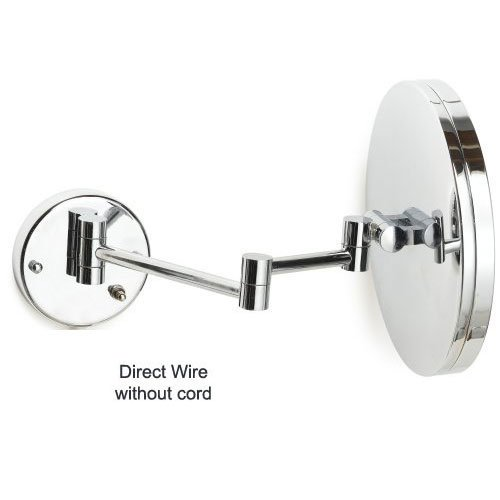 Jerdon HL1016CL-H 9.5'' Chrome Finish LED Lighted Wall Mount Mirror (HardWired Model) by Gordon Glass Co.