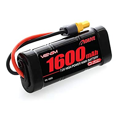 Venom 7.2V 1600mAh 6-Cell NiMH Battery with Universal Plug (EC3/Deans/Traxxas/Tamiya) x2 Packs: Toys & Games