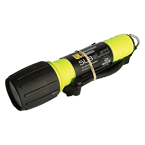 UK SL3 eLED (L2) with Batteries (single refill for Display) Dive Light - Light Yellow Dive Underwater Kinetics