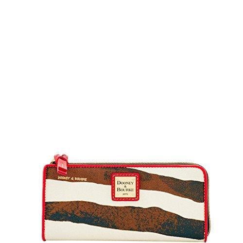 Dooney & Bourke Serengeti Zebra Large Zip Around Wallet Wristlet by Dooney & Bourke