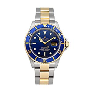 Best Epic Trends 417UHp4HxGL._SS300_ Rolex Submariner Mechanical (Automatic) Blue Dial Mens Watch 16613 (Certified Pre-Owned)