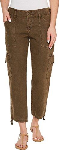 Sanctuary Women's Terrain Linen Crop Pants New Brown Olive Pants