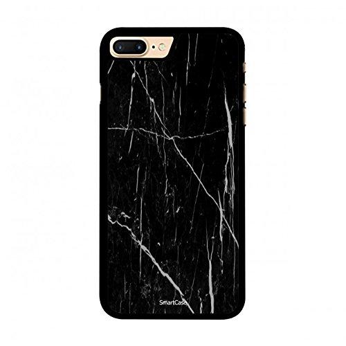 Coque + Verre Trempé pour iPhone 7 Plus SmartCase® motif marbre noir et blanc