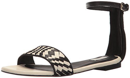 Black Women's White Sandal Dress Weave Cole Genevieve Haan C8Z1SY