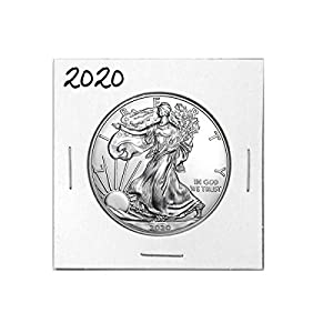 2020 – American Silver Eagle .999 Fine Silver with Our Certificate of Authenticity Dollar Uncirculated Us Mint