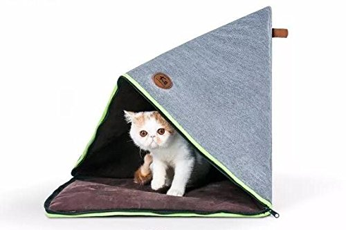 Pet Soft Bed Cave Cats and Small Dogs House,Change Zipper in Different Ways to Have 5 Shapes. For Sale