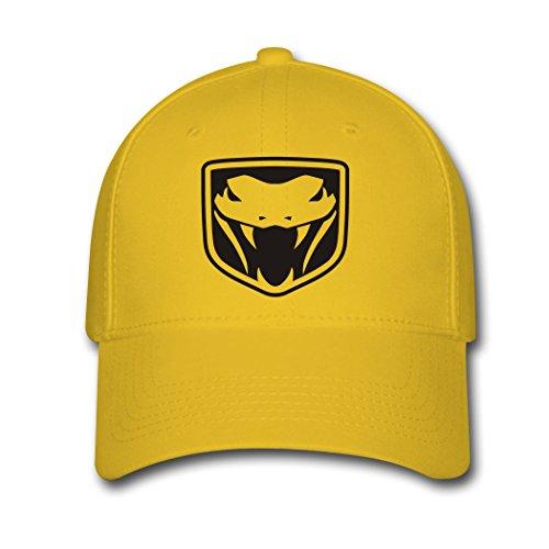 adjustable-dodge-viper-car-logo-baseball-cap-running-cap-yellow
