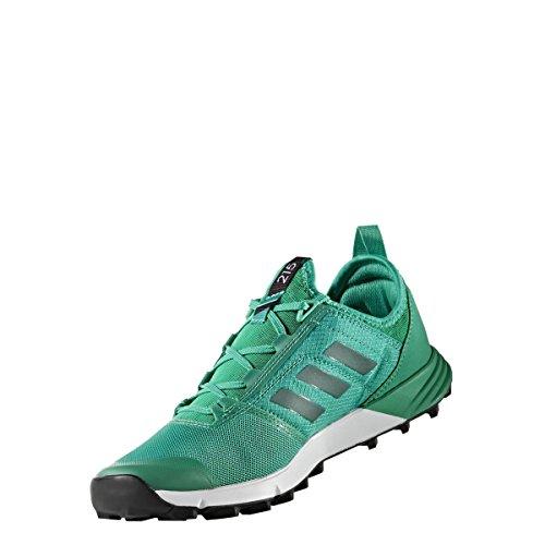adidas Terrex Agravic Speed W, Bottes de Randonnée Femme, Vert (Verde Verbas/Verbas/Negbas), 40 EU