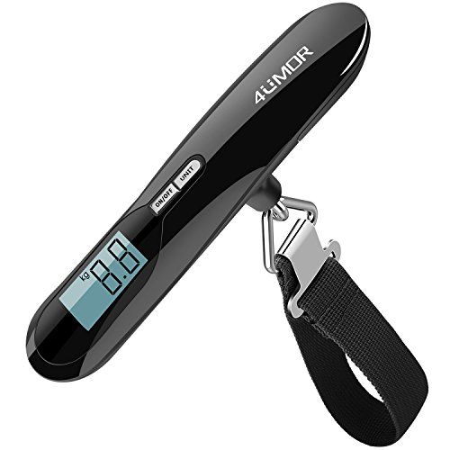 4UMOR Luggage Scale, Portable Digital Suitcase Weighing Scale for Travel 110LB