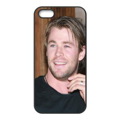 Chris Hemsworth Dark Man Actor Hollywood coque iPhone 4 4S cellulaire cas coque de téléphone cas téléphone cellulaire noir couvercle EEEXLKNBC24199
