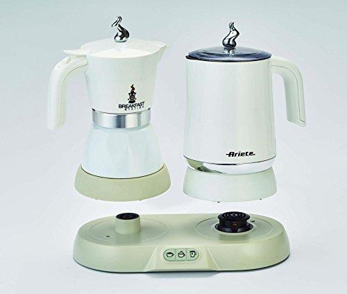 Ariete 1344 Breakfast Station - 3 prodotti in 1: Moka-Bollitore-Montalatte a caldo e freddo, 500W, 4/2 tazze… 3