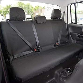 UK Custom Covers SC305B Tailored Heavy Duty Waterproof Rear Seat Covers Black