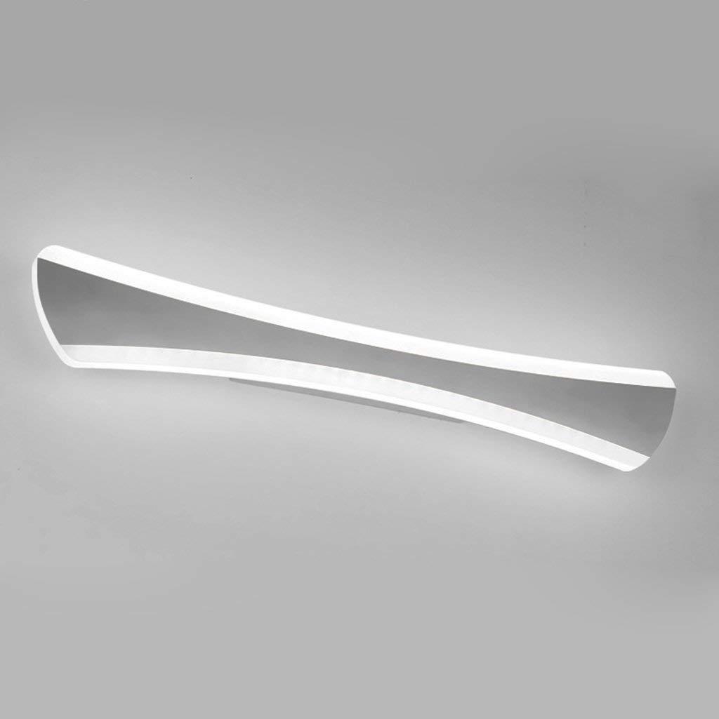 Mirror Lamps Home LED-Lampen Spiegel Spiegel von Instrumenten, die Edelstahlbadezimmer Moderne Wandlampe Wandlampe Wasserdichte Nebelscheinwerfer, Lichter der Badezimmer. (Farbe   Weiß-14w 42cm)