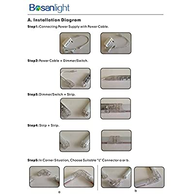 "Bosanlight Dimmable LED Under Cabinet Lighting, 6 X 12"" Strips, Total of 24w, 24v Dc, 2400lm, Daylight White, LED Light Bar, Dimmer & Switch Included."