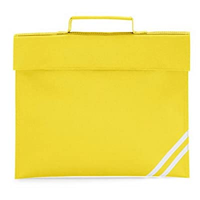 Quadra Classic Book Bag (Colour: Yellow, Size: ONE) - top-handle-bags