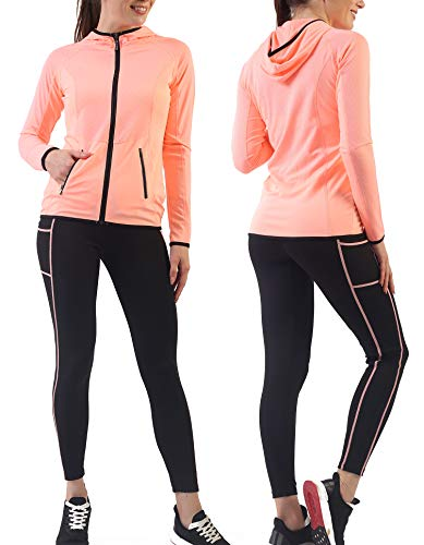 Women's Activewear Sets Workout Clothes Gym Wear Yoga Jogging Outfit Tracksuits Hoodie Jacket Pant Legging 2 Pieces Set ()