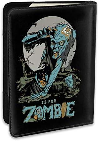 Z Is For Zombie ゾンビ パスポートケース パスポートカバー メンズ レディース パスポートバッグ ポーチ 収納カバー PUレザー 多機能収納ポケット 収納抜群 携帯便利 海外旅行 出張 クレジットカード 大容量