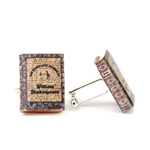 Easy Dude Costumes (WILLIAM SHAKESPEARE The Complete Works Clay Mini Book Cufflinks by Book Beads)