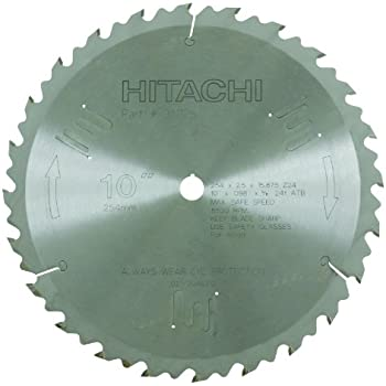 Hitachi 998862 60 teeth tungsten carbide tipped 8 12 inch atb 58 hitachi 311128 24 teeth tungsten carbide tipped 10 inch atb 58 inch arbor finish ripping table saw blade greentooth Choice Image