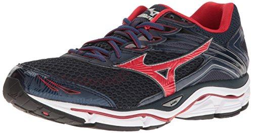 Mizuno Men's Wave Enigma 6 Running Shoe, Navy/Red, 10.5 D US