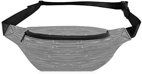 木目調-ダークグレーの農場座標 ウエストバッグ ショルダーバッグチェストバッグ ヒップバッグ 多機能 防水 軽量 スポーツアウトドアクロスボディバッグユニセックスピクニック小旅行