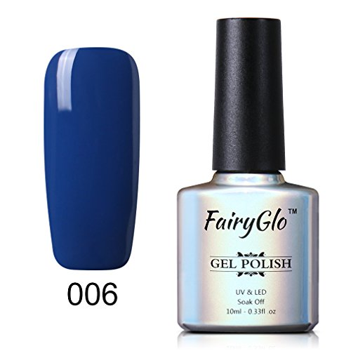 UV LED Nail Polish Soak Off Nail Art Beauty Pearl Blue Colour Sensational Gel Manicure Decor Kit 10ml FairyGlo 006
