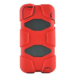 Military Survivor Stand Clip Cover Defender Case for iPhone 5C (Assorted Colors) , Blue
