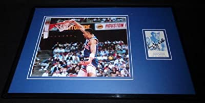 Kenny Sky Walker Dunk Signed Framed 11x17 Photo Display Knicks Kentucky