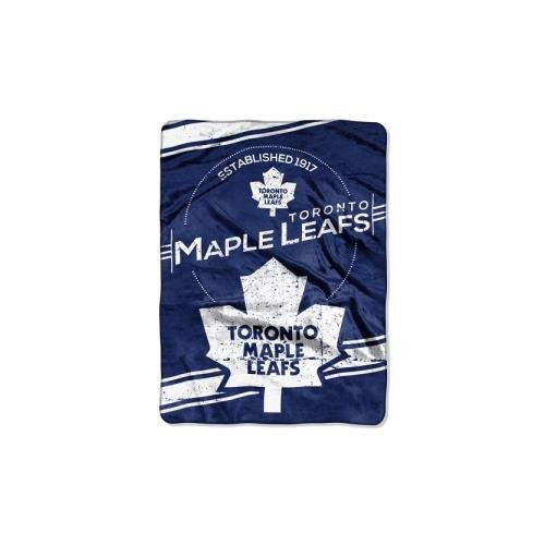 "The Northwest Company Officially Licensed NHL Toronto Maple Leafs Stamp Plush Raschel Throw Blanket, 60"" x 80"""