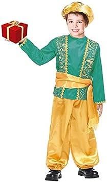 Partilandia Disfraz PAJE Verde para niño Navidad 2-4 años: Amazon ...