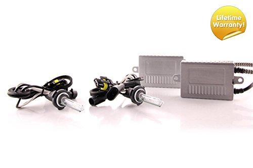 Premium HID kit, Slim AC Ballasts w / Hi-Output Bulbs, 9005 / HB3, 6500K ()