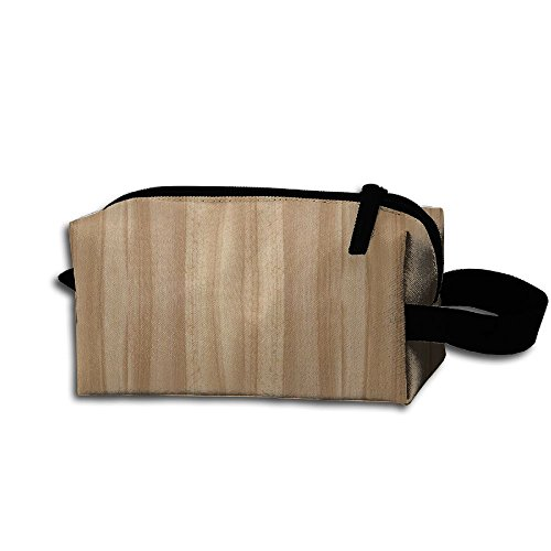 Makeup Cosmetic Bag Wood Plank Texture Zip Travel Portable Storage Pouch For Men Women by Alone (Image #1)