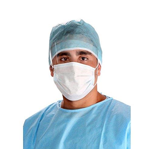 Earloop Face Mask with Anti Fog Eye Shield Blue Dental Su...