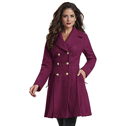 Fit-and-Flare Peacoat M Wine