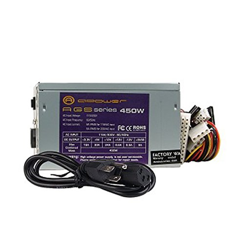 BD&A A-Power Dual-Fan AGS 450W 20+4-pin ATX Power Supply w/SATA 80mm Low Noise FCC by BD&A (Image #2)