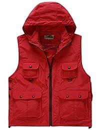 Wantdo Unisex Outdoors Hooded Waterproof Vest
